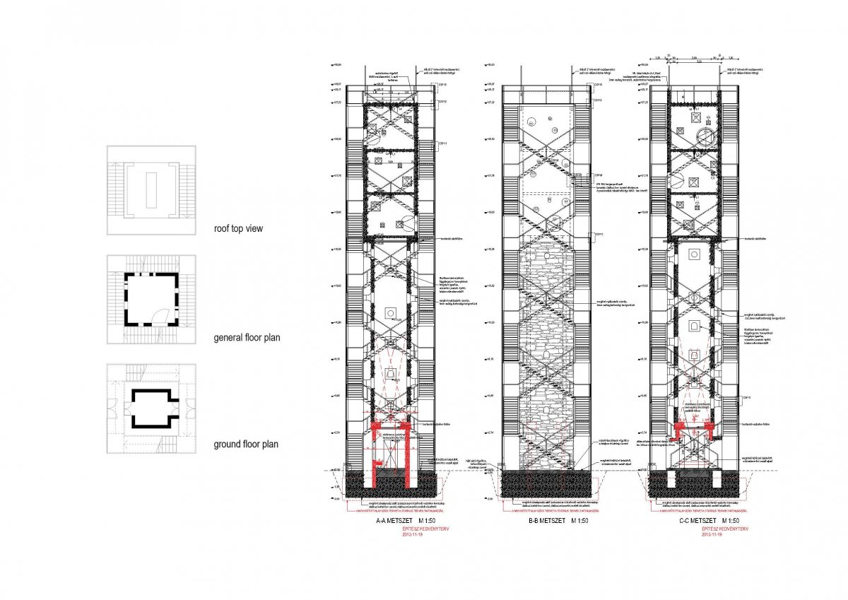 sections and floor plans