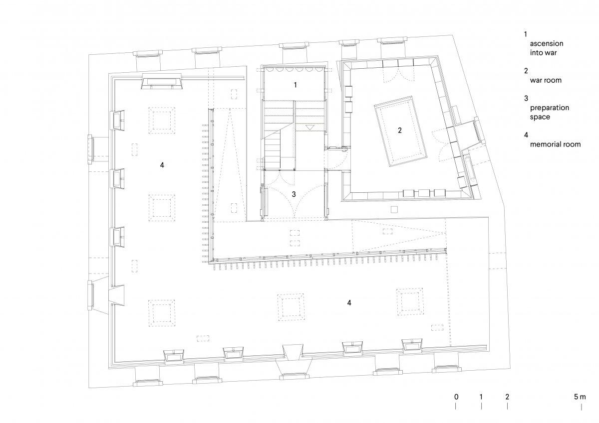 First floor plan - memorial exhibit