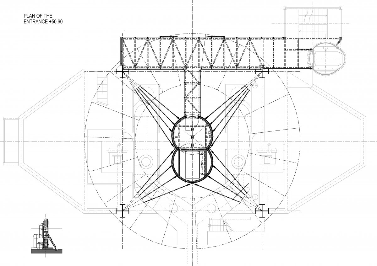 Plan of the entrance