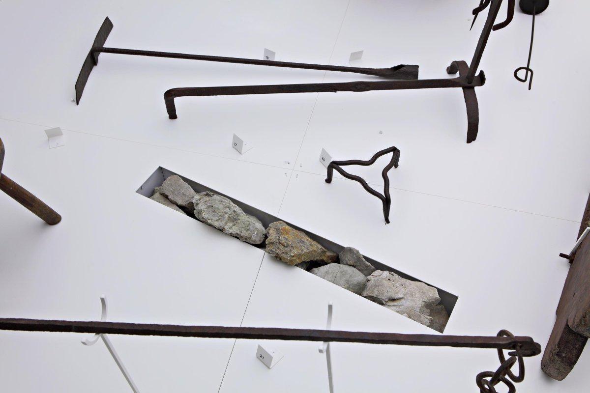 Ethnographic exhibit detail