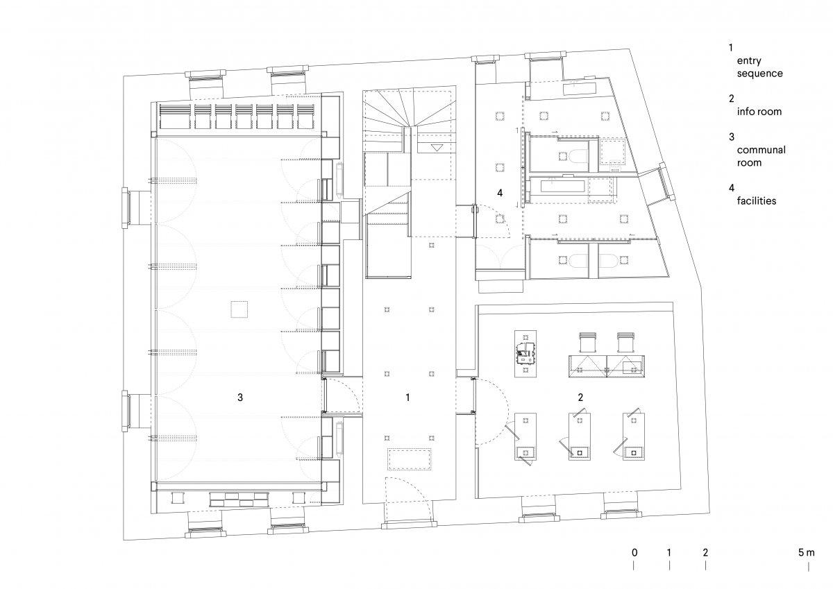 Ground floor plan - communal room