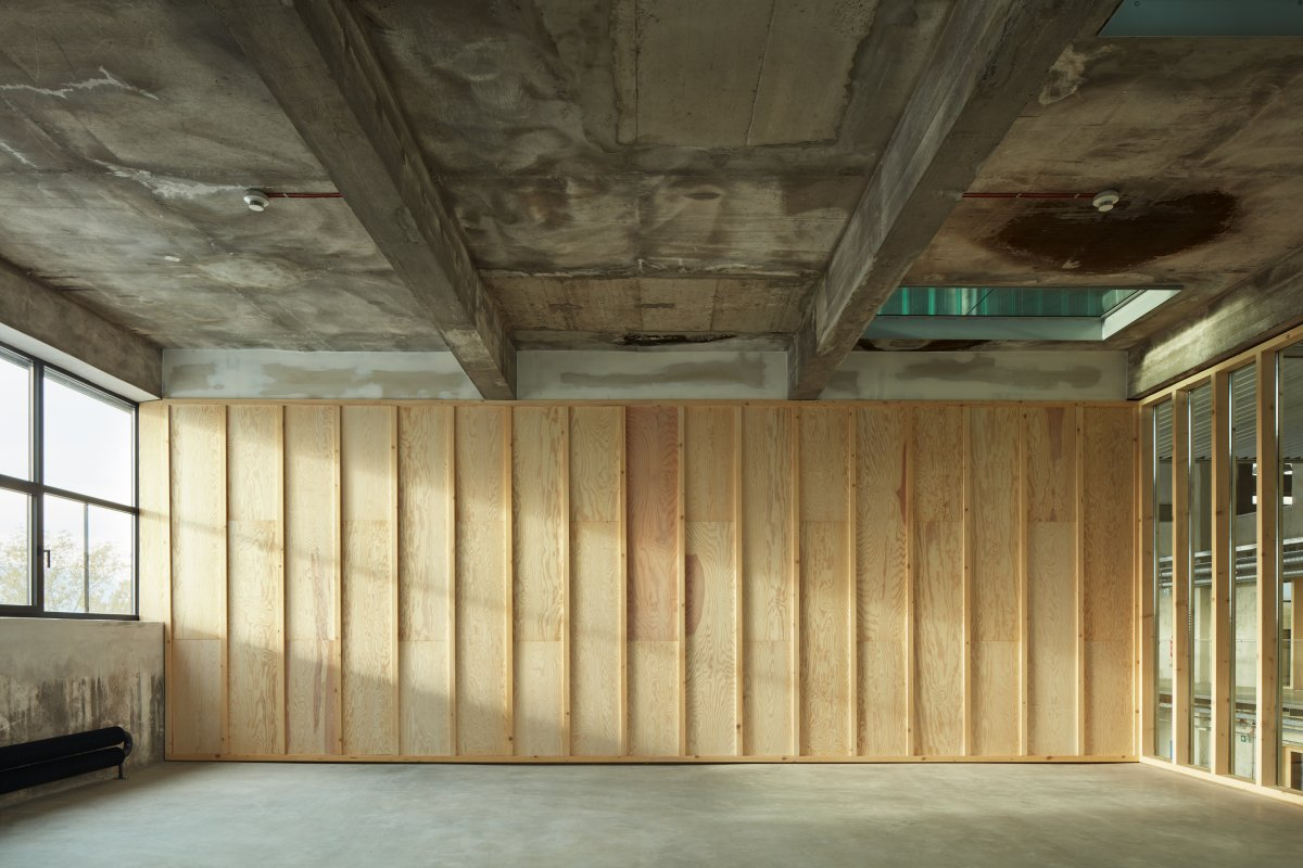 Timber partition wall