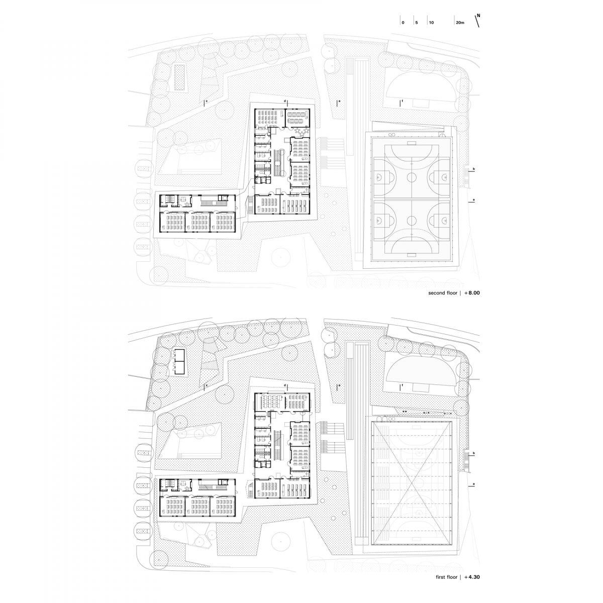 first / second floor plan