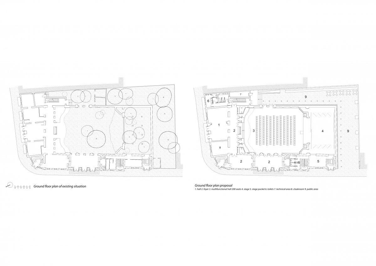 The ground floor plan