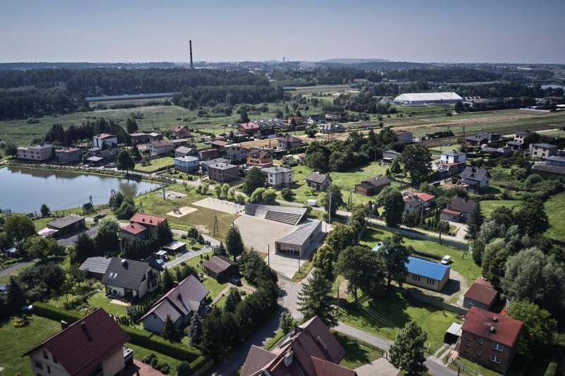 top view in the context of the district