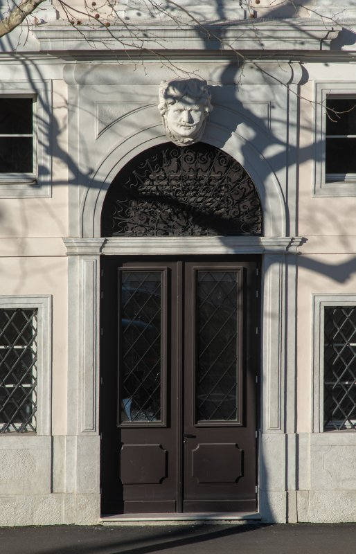 South facade entrance detail