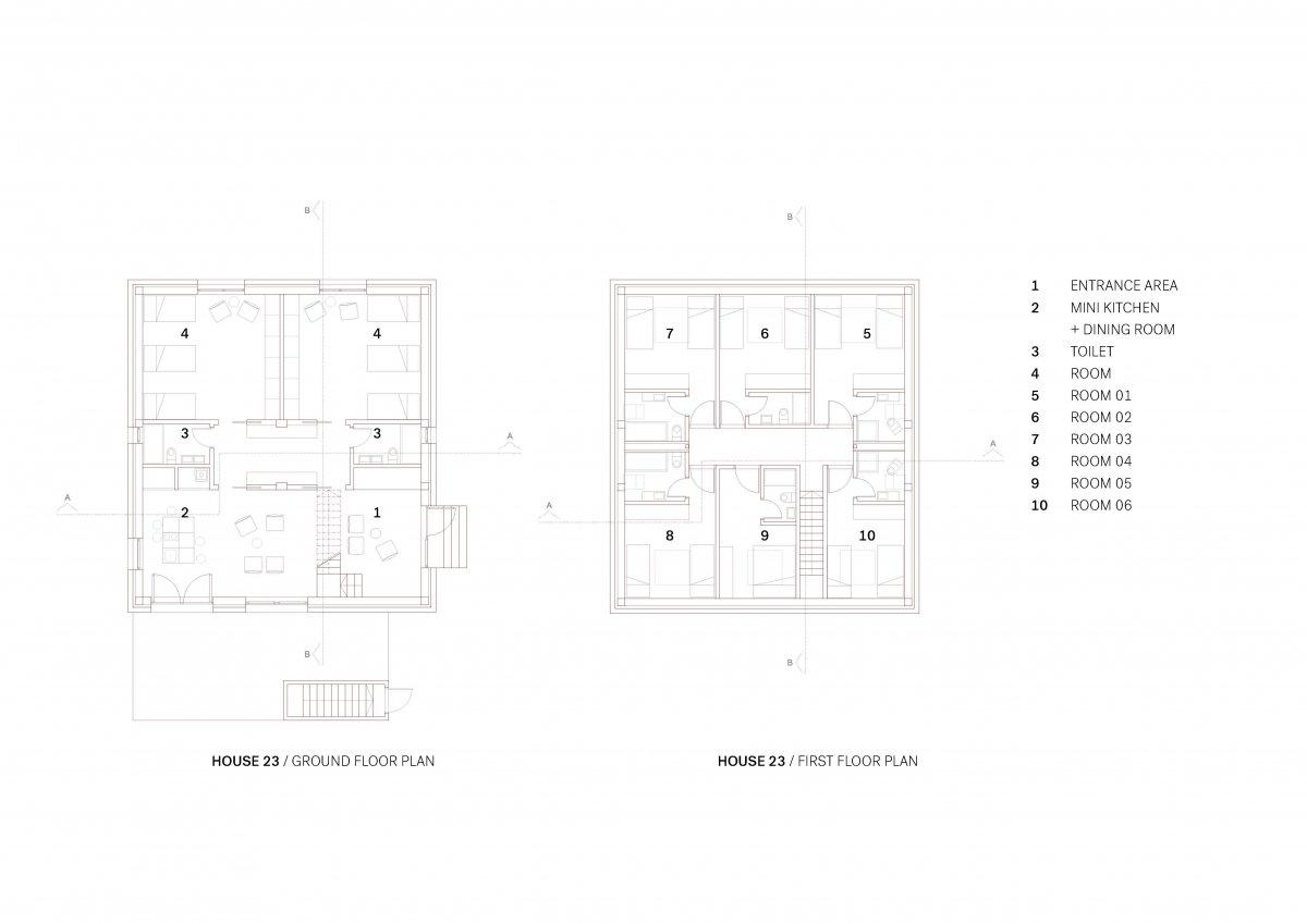 HOUSE 23 FLOOR PLANS