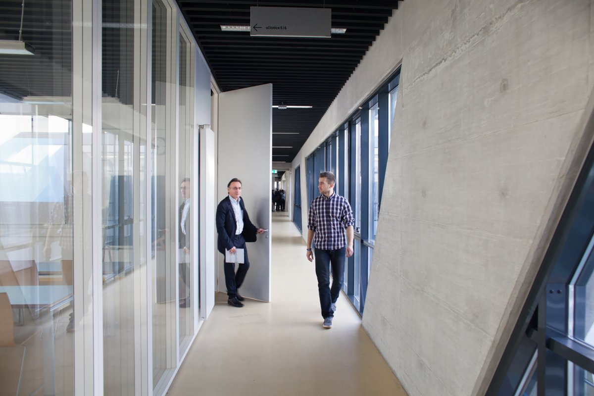 Corridor along the classrooms