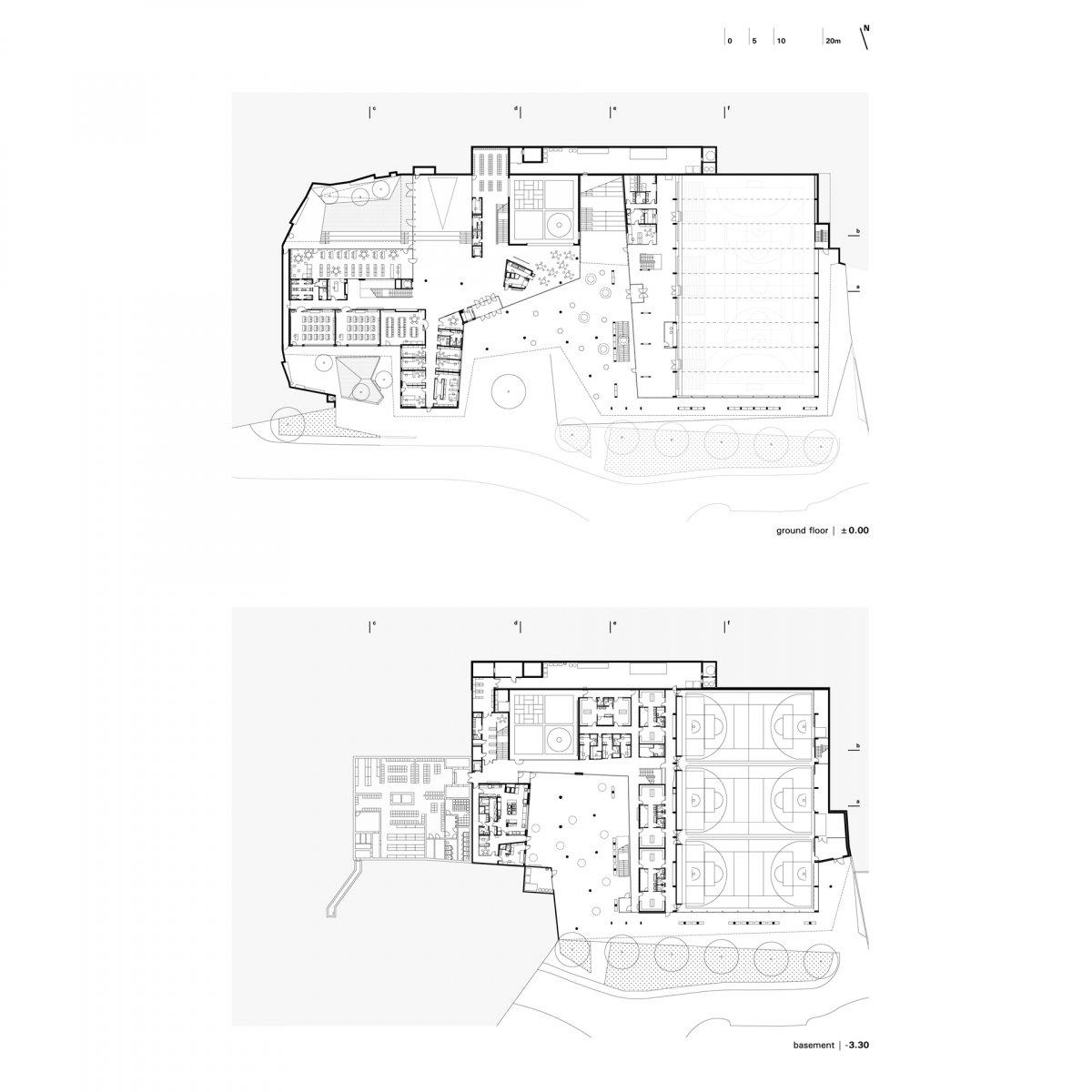 ground / basement floor plan