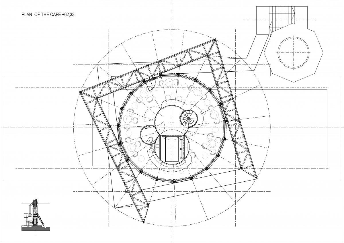 Plan of the café